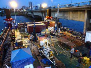 Hydrogeotechnique partenaire d'AGTS en milieu fluvial